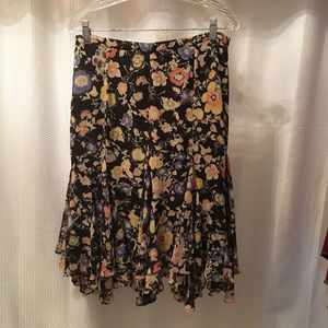 John Paul Richard Fit and Flare Floral Skirt